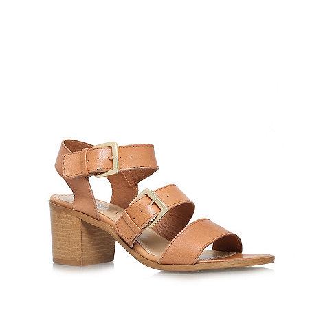 Carvela - Beige +Kommand+ mid heel sandals