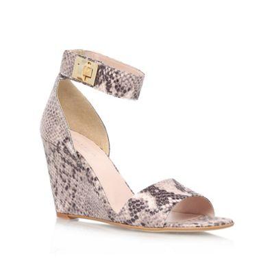 Carvela Beige ´kulprit´ high heel wedge sandals - . -