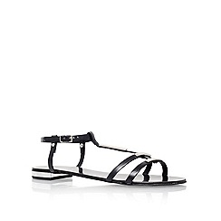 Carvela - Black 'kinetic' flat sandals