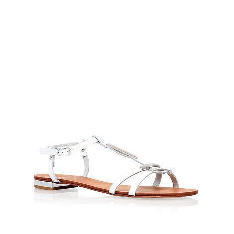 Carvela - White +kinetic+ flat sandals