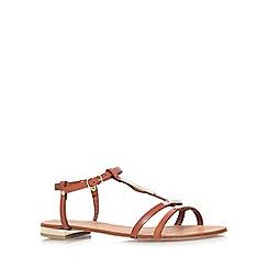 Carvela - Tan 'kinetic' flat sandals
