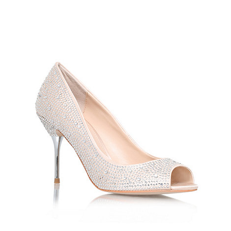 Carvela - Cream +Grid+ high heel court shoes
