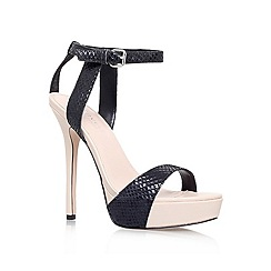 Carvela - Black 'Gown' High heeled courts