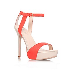 Carvela - Orange 'Gown' high heel platform sandals