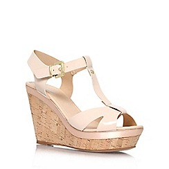 Carvela - Nude 'Kabby' high heel wedge sandals