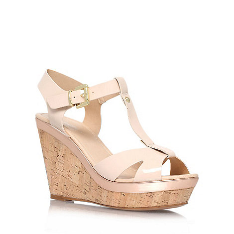 Carvela - Nude +Kabby+ high heel wedge sandals