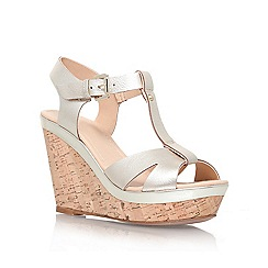 Carvela - Gold 'Kabby' high wedge platform sandal