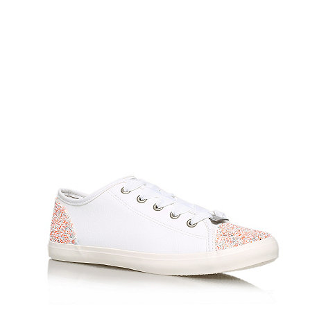 Lipsy - White +Annie+ flat low top trainers