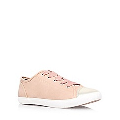 Miss KG - Tan 'Leni' flat low top trainers