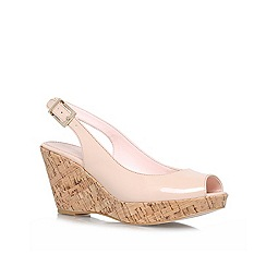 Carvela - Nude 'klix' high heel wedge sandals