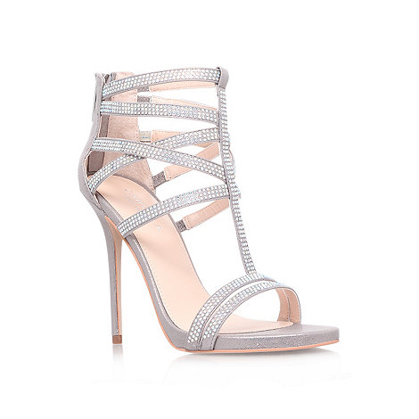 Carvela - Silver +Glaze+ high heel sandals