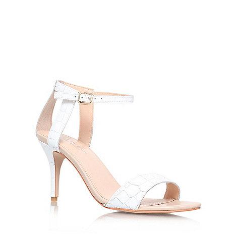 Carvela - White +Kollude+ mid heel sandals