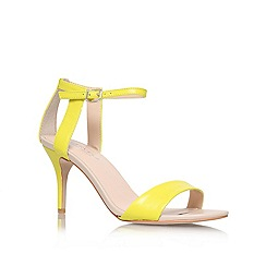 Carvela - Yellow 'Kollude' mid heel sandals