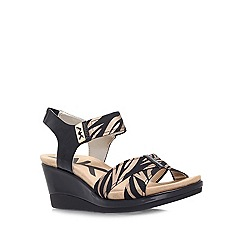 Anne Klein - Black 'Pakuna2' mid heel wedge sandals