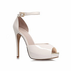 Carvela - Cream 'gossip' high heel platform shoes