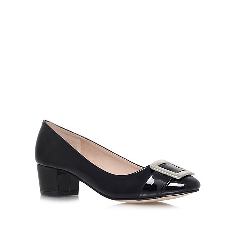 Carvela - Black +Kiki+ low heel court shoes