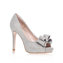 Miss KG - Silver 'Caroline' high heel court shoes