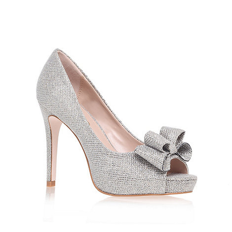 Miss KG - Silver +Caroline+ high heel court shoes