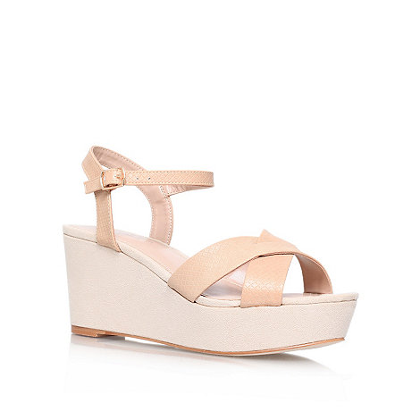 Carvela - Nude +summer+ strap wedge sandal