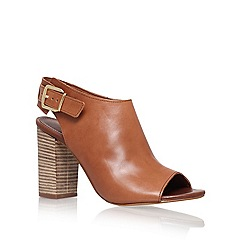 Carvela - Tan 'Asset' high heel peep toe shoes