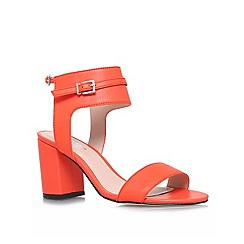 Carvela - Orange 'kindly' mid heel sandals