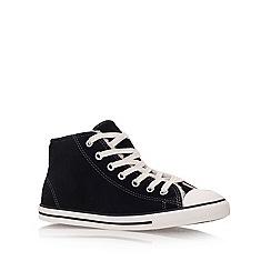 Converse - Converse black 'dainty shrlng' flat hi-top trainers
