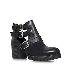 Carvela - Black 'Stole' mid heel ankle boots