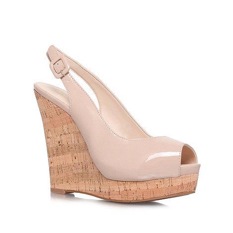 Nine West - Nude +Leggy+ high heel wedge sandals