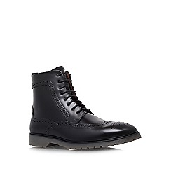 KG Kurt Geiger - Black 'Heremiah' flat lace-up boots