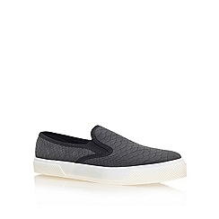 Miss KG - Black 'leo' flat low top trainers