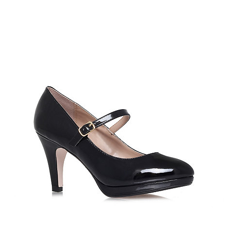 Miss KG - Black +Cherry+ high heel court shoes