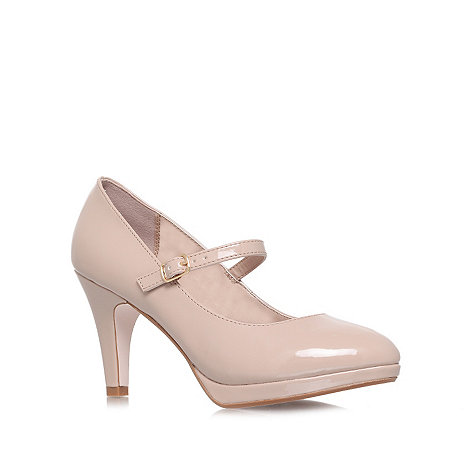 Miss KG - Nude 'Cherry' high heel court shoes
