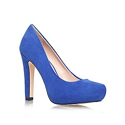Miss KG - Blue 'annie' high heeled court shoe