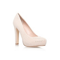Miss KG - Gold combination 'Annie' high heel court shoe