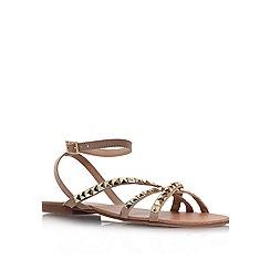 Carvela - Nude 'bella' flat embellished sandal