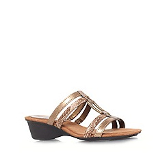 Anne Klein - Bronze 'Olavio3' low heel sandals