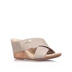 Anne Klein - Gold 'Lorri2' low heel wedge sandals
