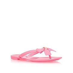 Carvela - Pink 'Star' toe post sandals