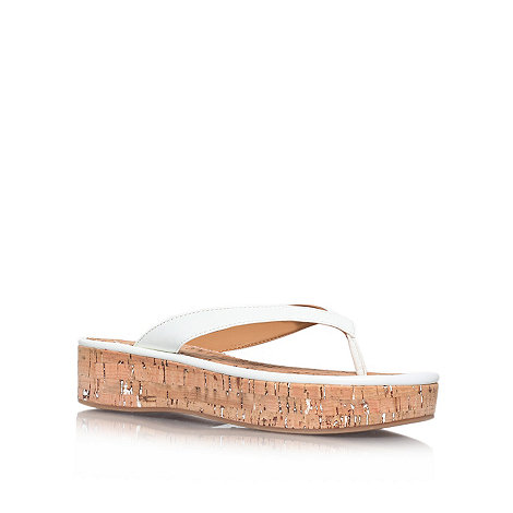 Nine West - White +Goldfish3+ flat platform flip flops