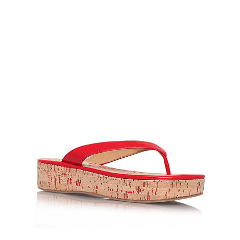 Nine West - Red +Goldfish3+ flat platform flip flops