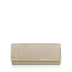 Miss KG - Gold 'Tamera' clutch bag