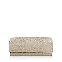 Miss KG - Gold 'Tamera' clutch bag