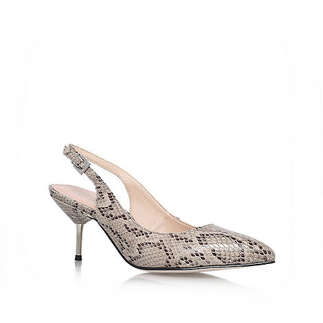 Carvela - Beige +Alliance+ mid heel court shoes