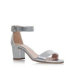 Carvela - Silver 'Krisp' mid heel sandals