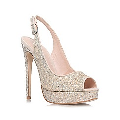 Miss KG - Silver 'Esther' high heel court shoes