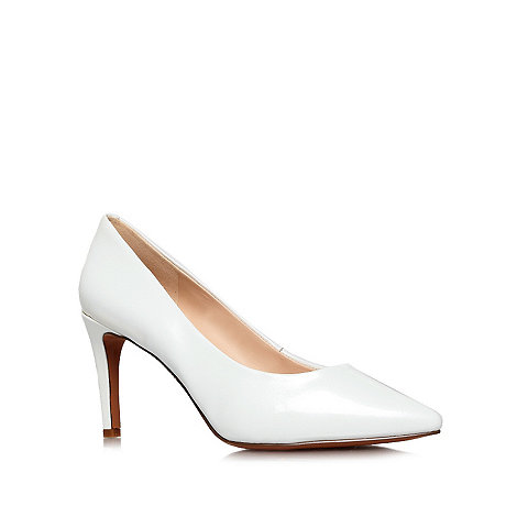 Nine West - White +Charley23+ mid heel court shoes