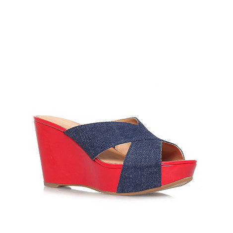 Nine West - Denim +Etzamore7+ high heel platform wedges