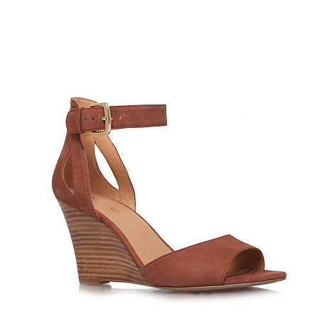 Nine West - Brown +Floyd+ high heel wedge sandals