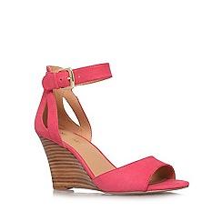 Nine West - Pink 'Floyd' high heel wedge sandals