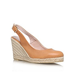 Carvela - Tan 'Kat' high heel wedges